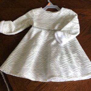 Youngland silver and white dress